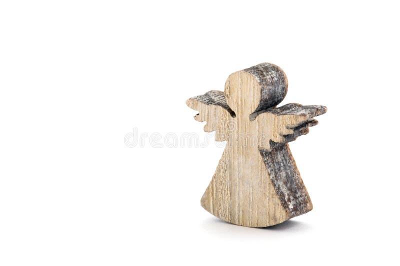 Décoration en bois de Noël d'ange image stock
