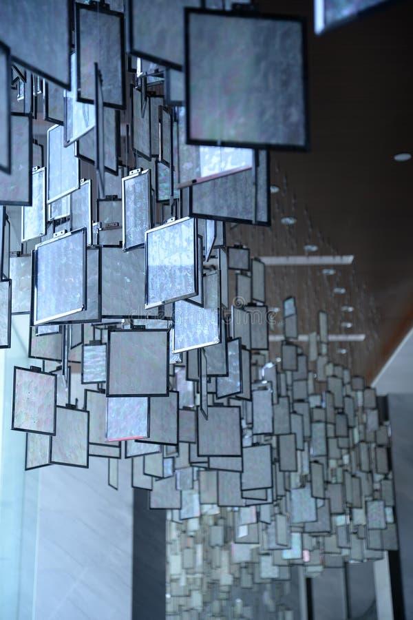 Décoration en verre carrée d'intérieur photos libres de droits