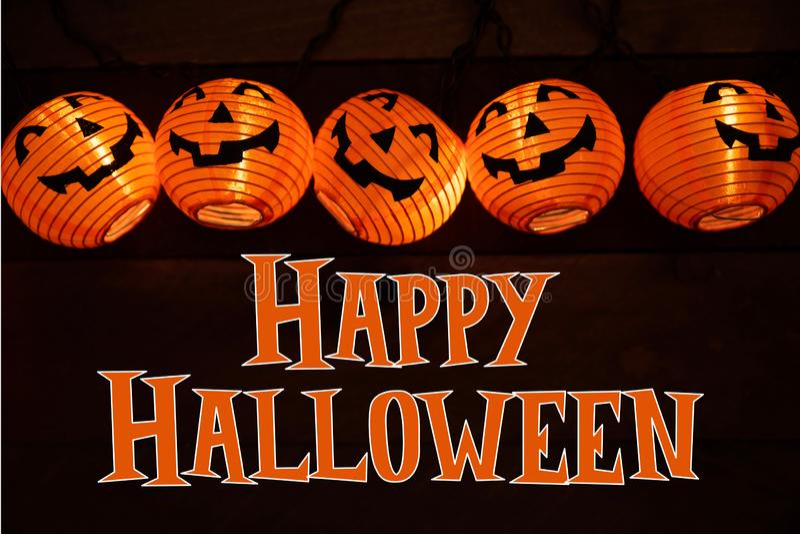 Décoration et salutation de Halloween illustration stock