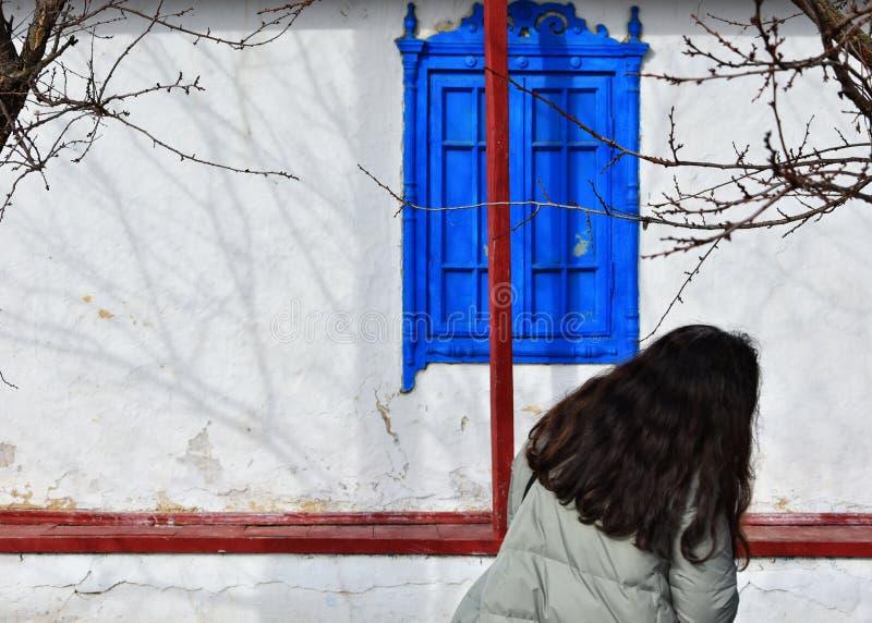 Décoration extérieure de Chambre dans le village de Jurilovca photographie stock libre de droits