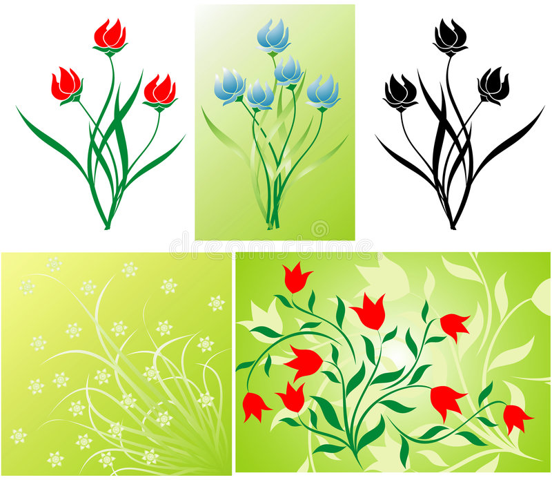Décoration florale illustration de vecteur