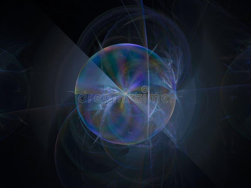 Décoration futuriste de modèle de fond de couleur de fractale d'imagination surréaliste abstraite de conception illustration stock