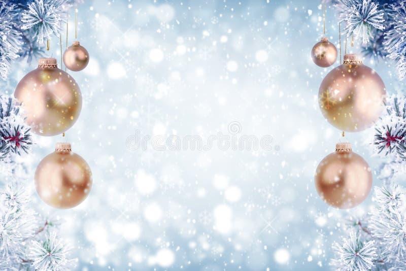 Décoration givrée de Noël de pin photo libre de droits