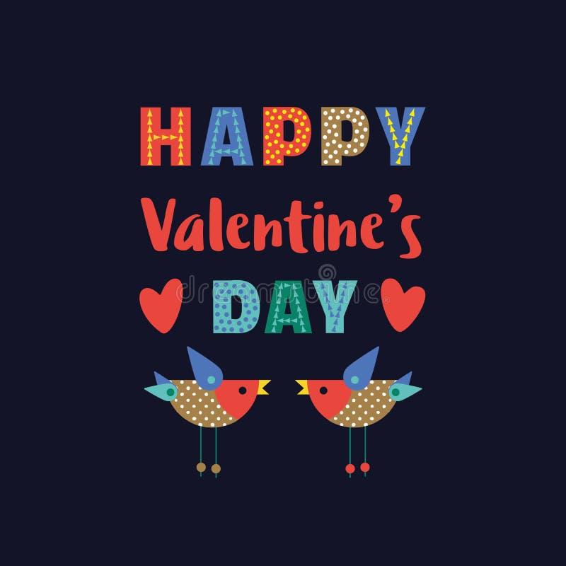 Décoration heureuse de jour du ` s de Valentine illustration de vecteur