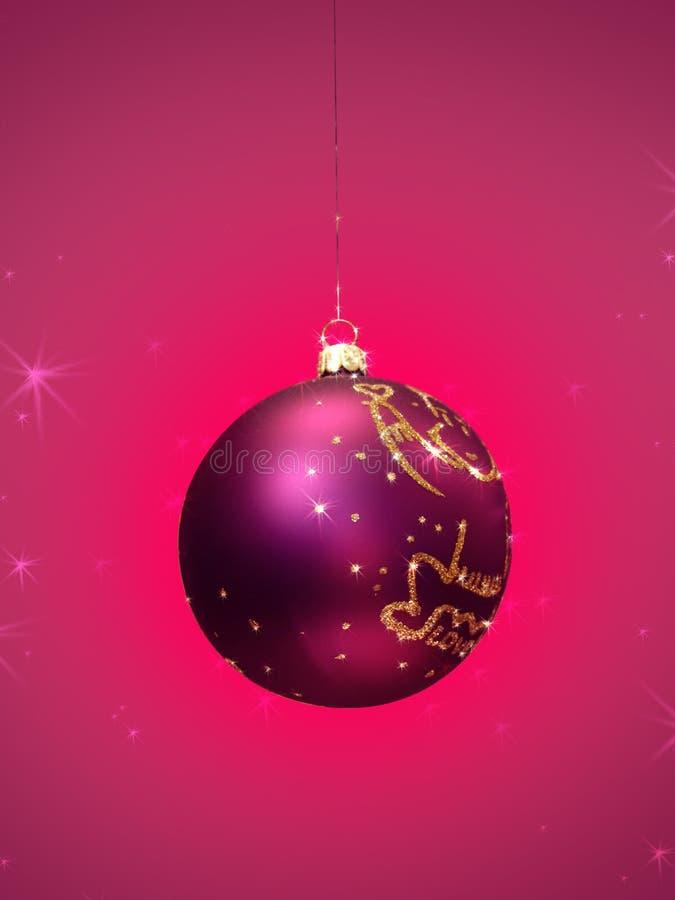 Décoration MAGIQUE de bille de Noël photo libre de droits