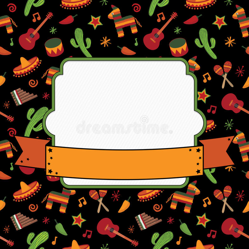 Décoration mexicaine illustration stock