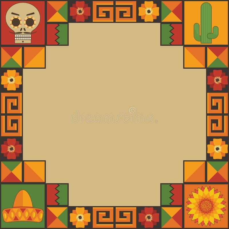 Décoration mexicaine de cadre illustration de vecteur