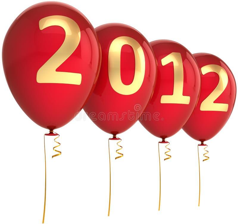 Décoration neuve de 2012 ballons d'an illustration stock