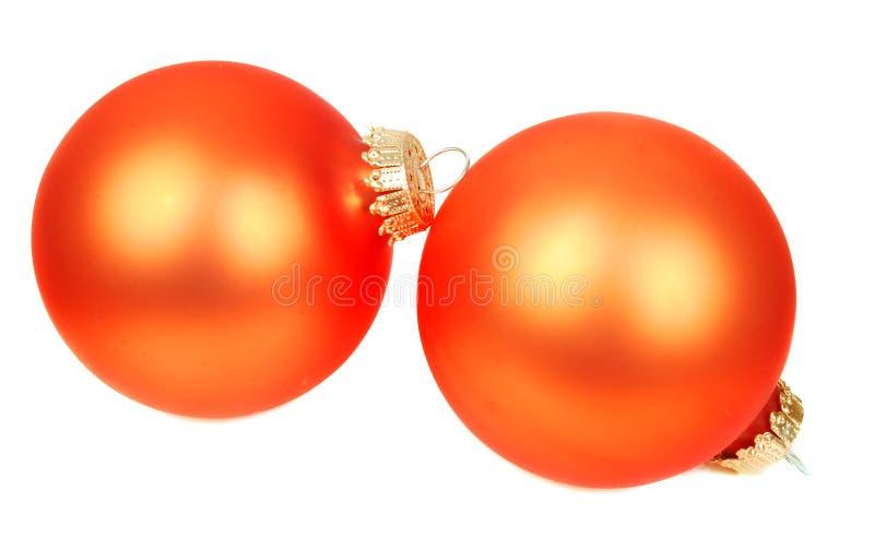Décoration orange de Noël photographie stock
