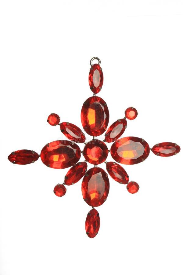 Décoration rouge de bijou image stock