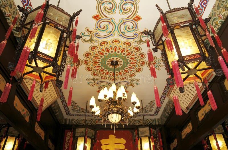 Décoration royale de la construction de la Chine image stock