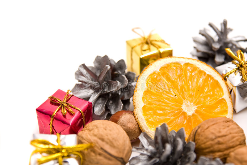 Décoration traditionnelle de Noël photographie stock