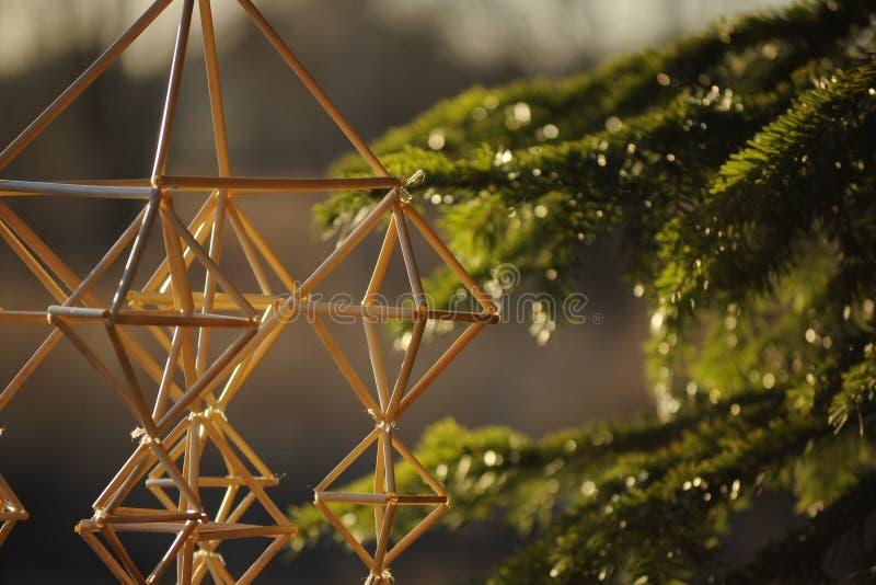 Décoration traditionnelle letton de Noël photos stock