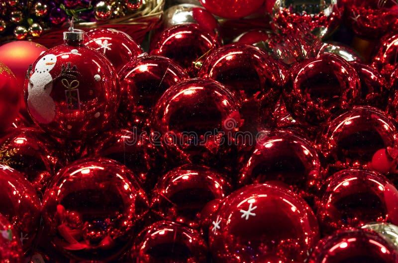 Décoration traditionnelle pour Noël au marché de Noël de Santa Lucia, Bologne, Italie image stock