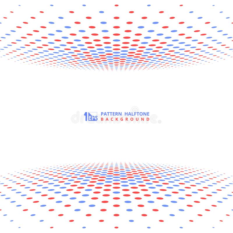 Décoration tramée bleue rouge de conception de couverture de contraste de résumé Vecteur eps10 d'illustration illustration de vecteur
