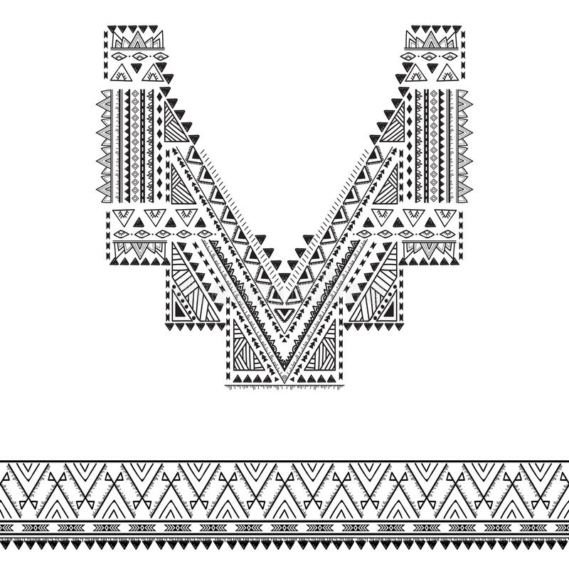 Décoration tribale pour des vêtements photographie stock libre de droits