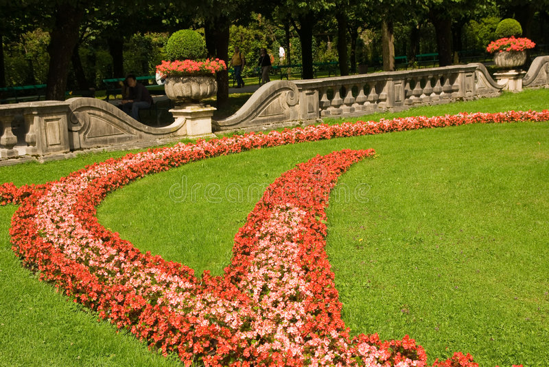 Décoration urbaine de fleur image libre de droits