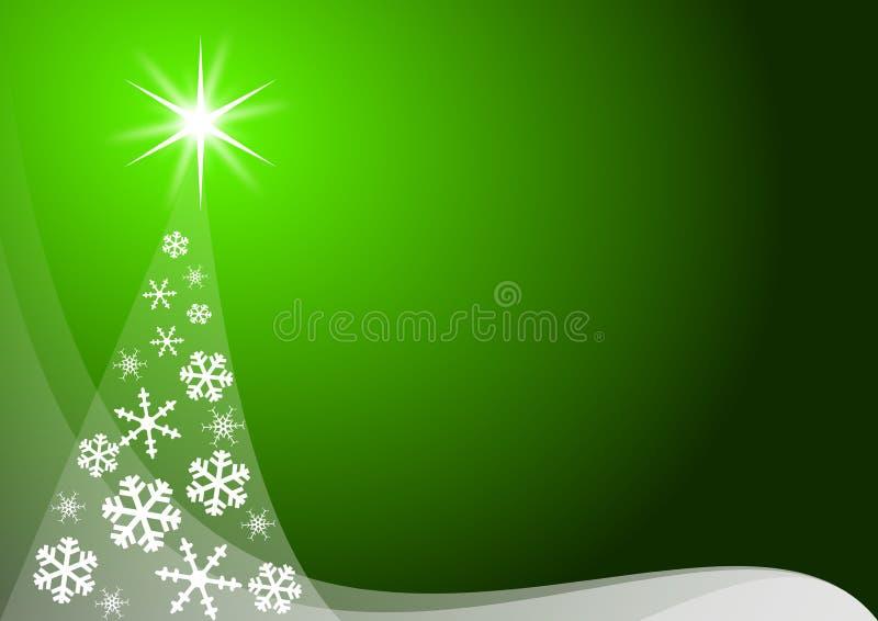 Décoration verte de Noël illustration stock