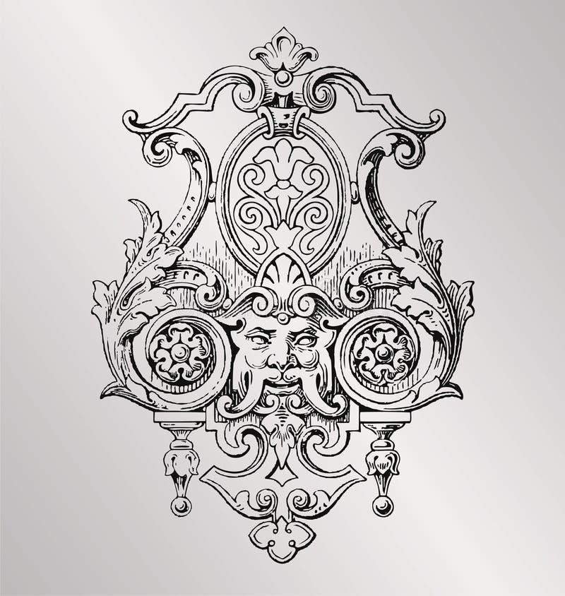 d coration victorienne illustration de vecteur illustration du antiquit 32826307. Black Bedroom Furniture Sets. Home Design Ideas