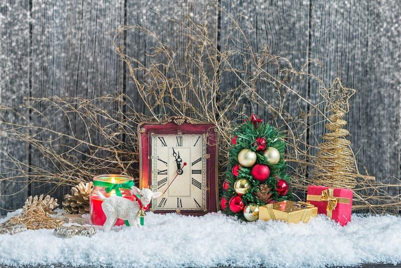 Décorations à la maison de Noël image stock