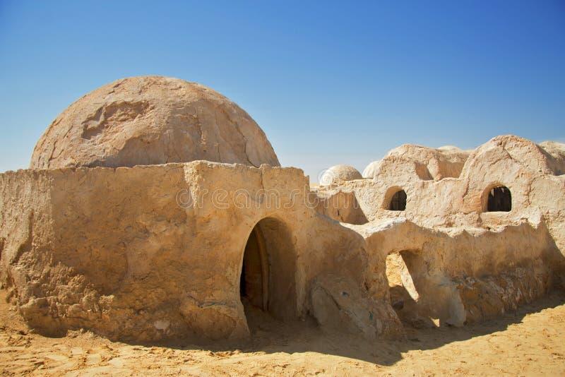 Décorations d'épisode de Star Wars de film d'abord dans le désert du Sahara, T photographie stock libre de droits