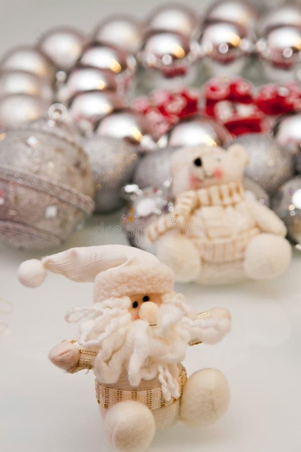 Décorations d'arbre de Noël image stock