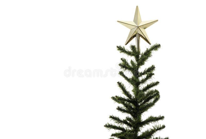 Décorations d'arbre de Noël sur un fond blanc Plan rapproché photographie stock