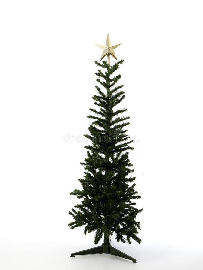 Décorations d'arbre de Noël sur un fond blanc Plan rapproché photos stock