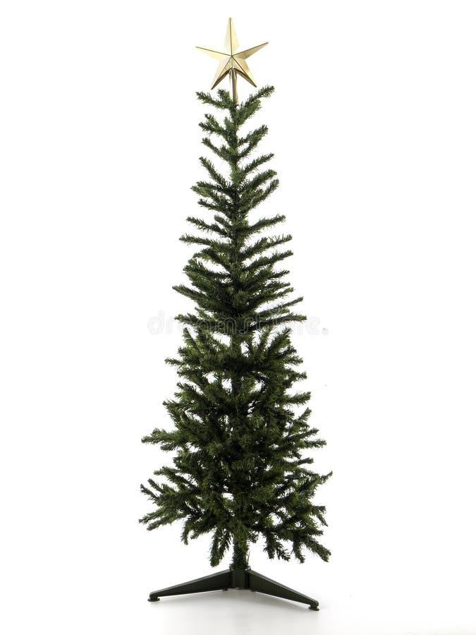 Décorations d'arbre de Noël sur un fond blanc Plan rapproché image stock