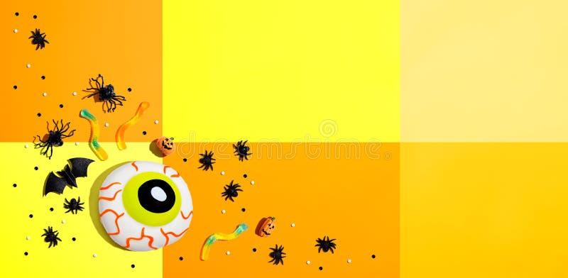 Décorations d'Halloween avec eyeball photos libres de droits