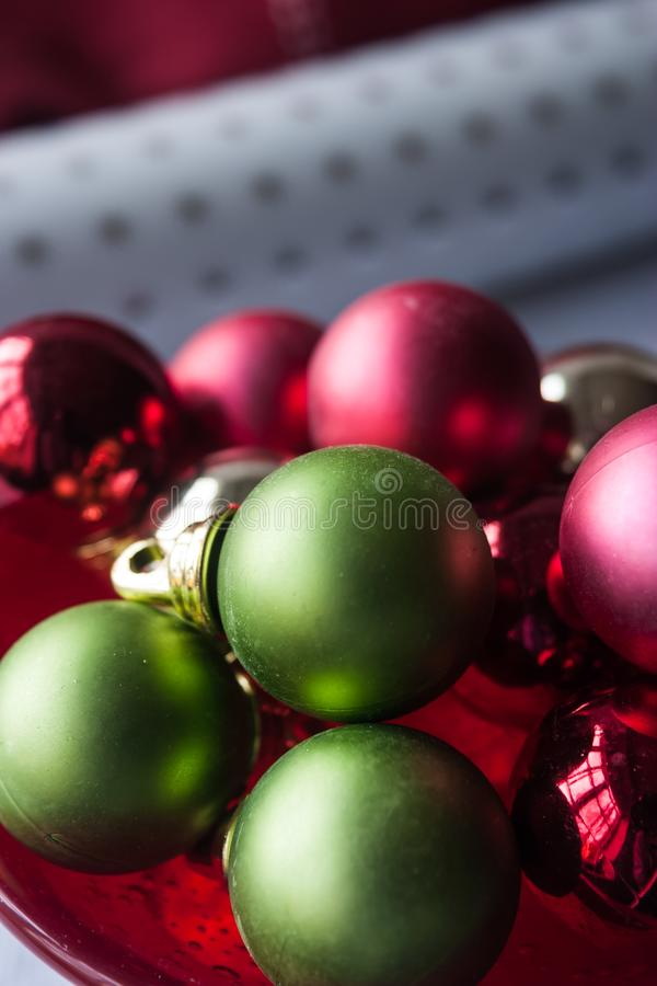 Décorations de babiole de Noël photographie stock
