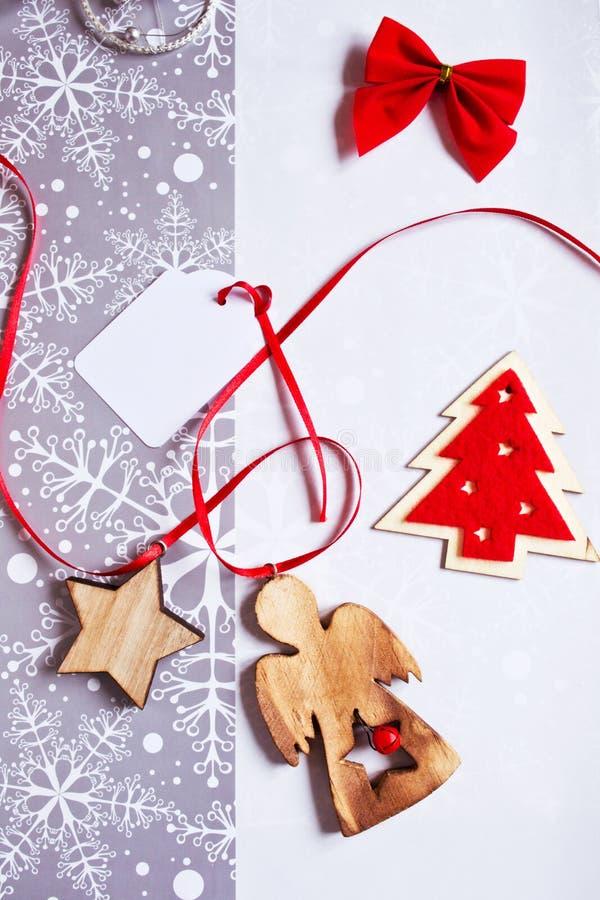 Décorations de cadeau de Noël images stock