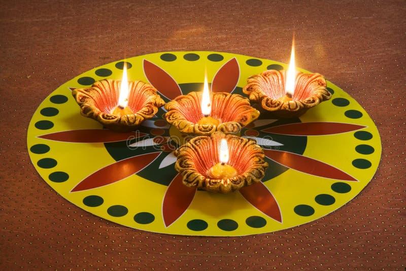 Décorations de Diwali photos stock