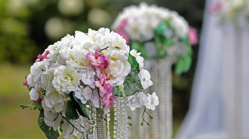 Décorations de mariage de cérémonie de mariage images stock