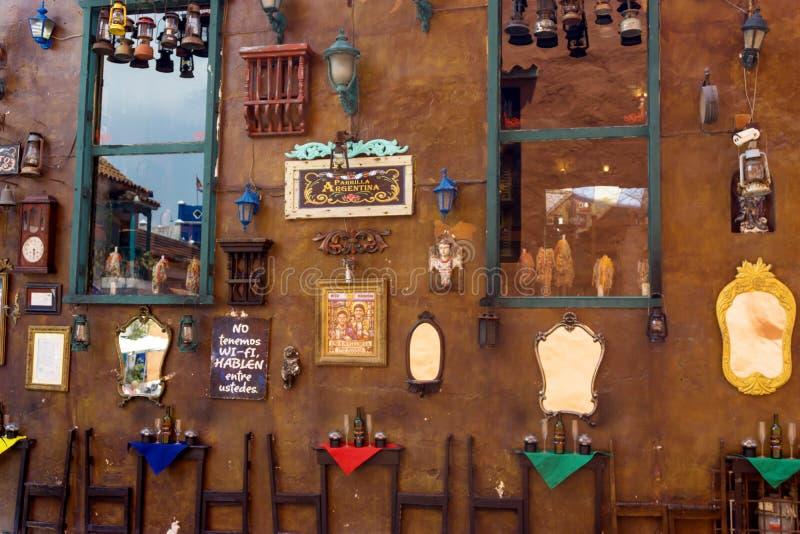 Décorations de mur à Carthagène photo stock