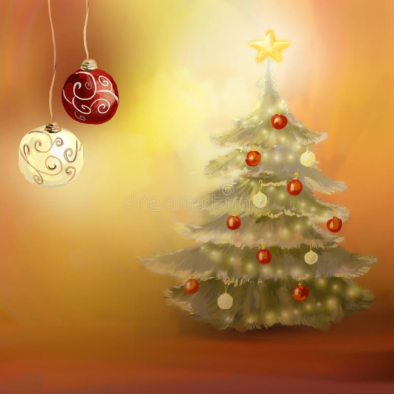 Décorations de Noël illustration stock