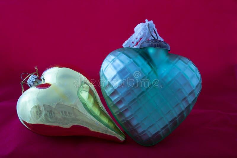 Décorations de Noël au coeur de forme photo stock