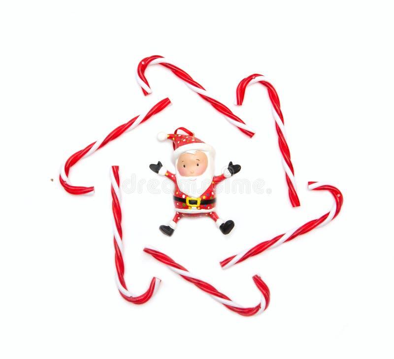 Décorations de Noël avec Noël de père image libre de droits
