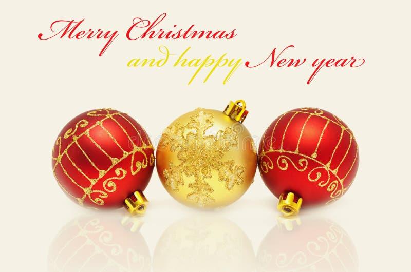 Décorations de Noël - billes photo libre de droits