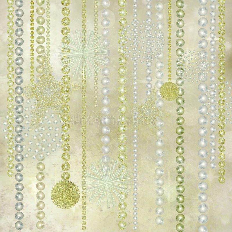 Décorations de Noël d'argent, d'or et de perle illustration libre de droits