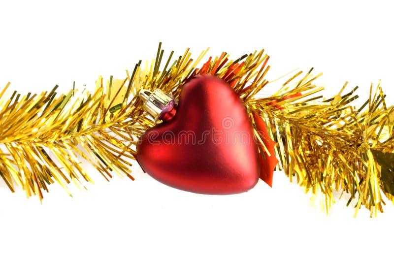 Décorations de Noël de coeur photos stock