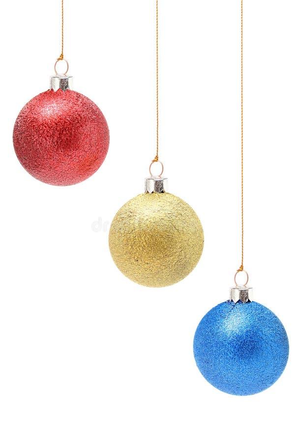 Décorations De Noël De Couleur Jaune Et Bleue Rouge Image libre de droits