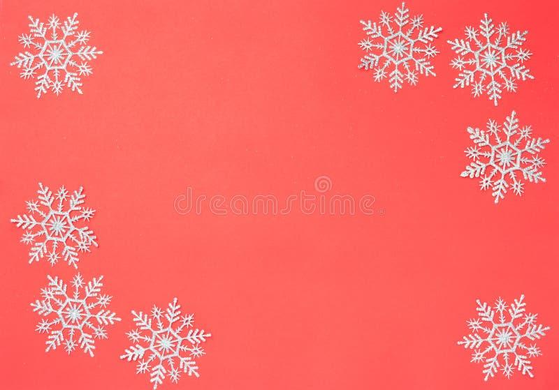 Décorations de Noël des Snowflakes image libre de droits