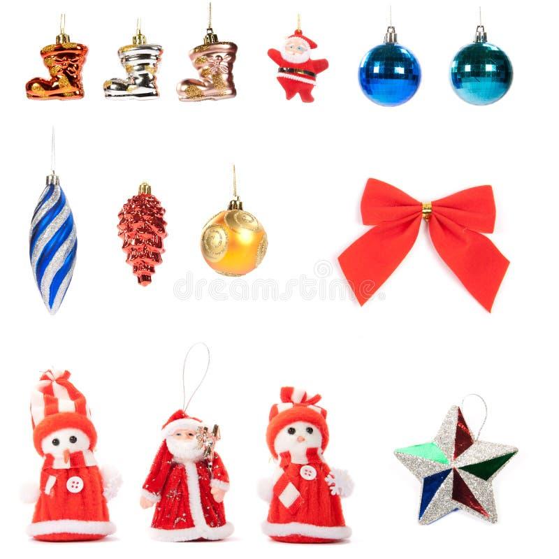 Décorations de Noël réglées photos stock