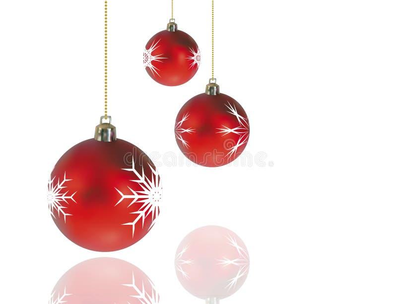 décorations de Noël rouges illustration de vecteur