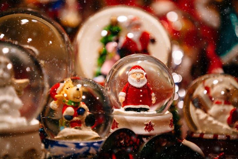 Décorations de Noël sur Trentino Alto Adige, marché de Noël de l'Italie images stock