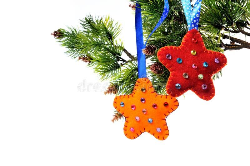 Décorations de Noël sur un arbre de Noël photographie stock