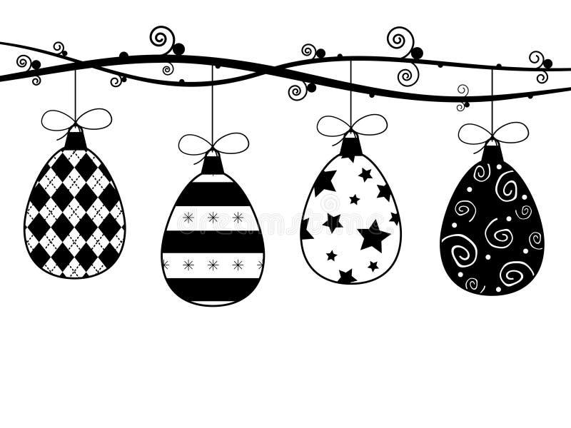 Décorations de Pâques illustration de vecteur