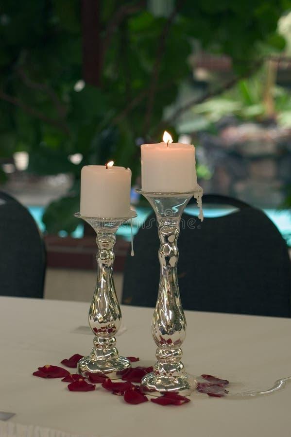 Décorations De Table De Mariage Images stock