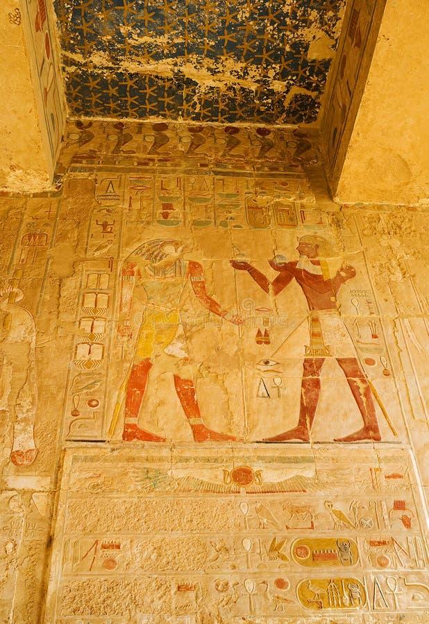 Décorations de temple de Hatshepsut photographie stock